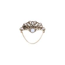 Barette collerette blanc opal