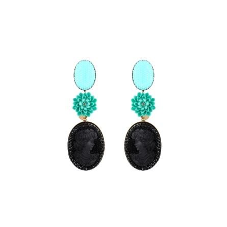 BO Diva big noir turquoise