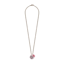 Collier coquelicot rose