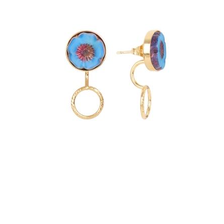 Earjacket Bloom anneau bleu
