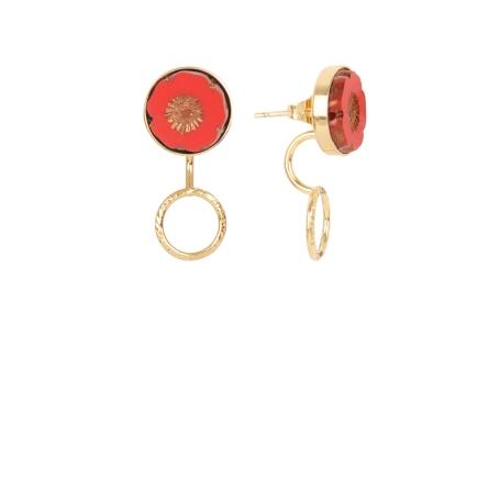 Earjacket Bloom anneau rouge