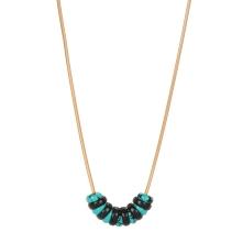 Sautoir Chenille turquoise